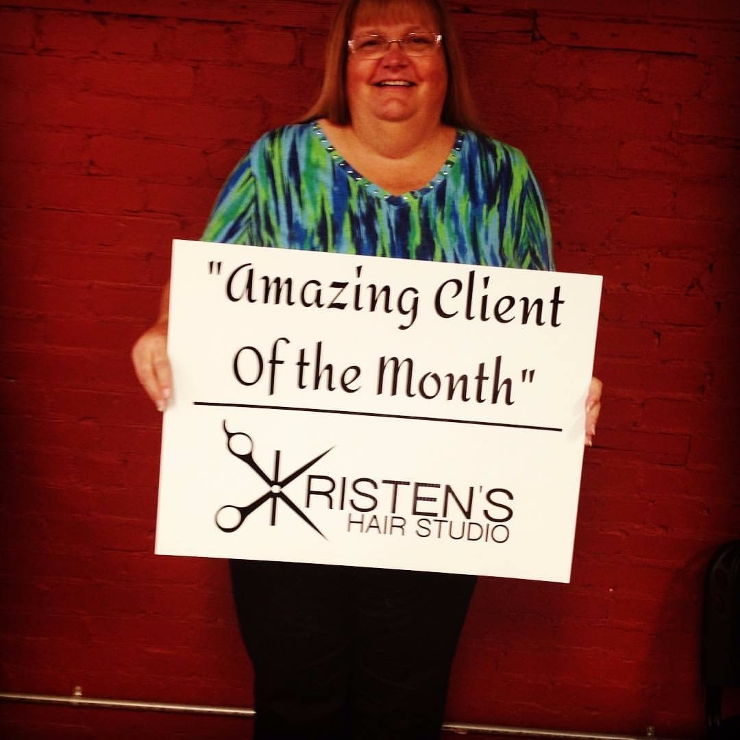 Julie Amazing client of the Month